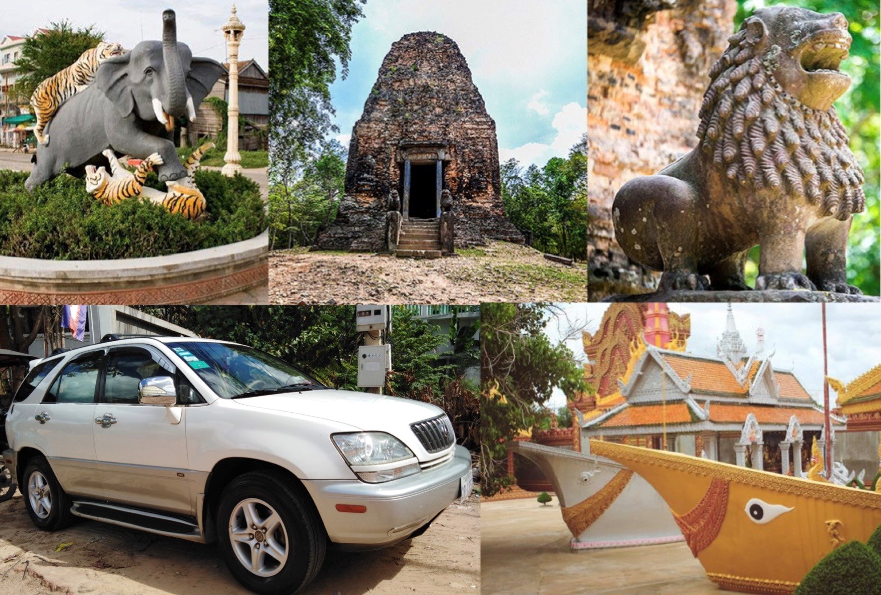 Ground Transfers, Private Taxi to Kampong Thom, Phnom Penh, Travels in Cambodia