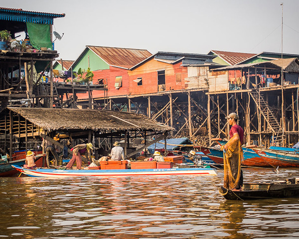 Tonle Sap Lake, Floating Village
